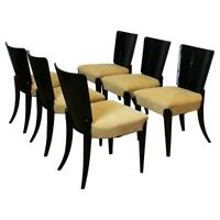 Set of Six Art Deco Model H 214 Chairs by Jindrich Halabala for UP Zavody, 1930s