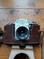EXAKTA VAREX VINTAGE FILM CAMERA WITH LENS AND CASE.