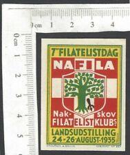 Denmark 1935 Philately Day Exhibition, Nakskov poster stamp Mh