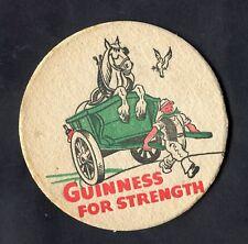 """C1960s Guinness Beer Mat: """"For Strength"""""""