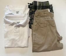 School Uniform Boys 2 Tshirts &3 Shorts w/Adjustable Elastic Inside Waist Sz 7/8