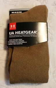 Under Armour Men's 1 Pair Over The Calf Outdoor Performance Socks SV3 Brown OS