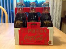 COCA COLA 1996 100 YEARS OF OLYMPIC TRADITION ATHENS TO ATLANTA  6 PACK BOTTLES