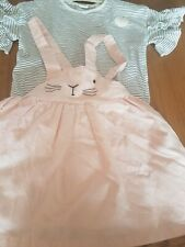 Next Girls Outfit Top And Pink Pinafore Age 3-4 Years