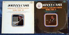 JOHNNY CASH - ORIGINAL GOLDEN HITS VOL. 1 & 2  - SUN LABEL -  (2) LP LOT
