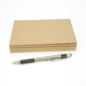 "A6 Notebook, 4""x6"", Blank, Notes, Kraft Sketchbook, Journal, 72 Pages (5 Pack)"