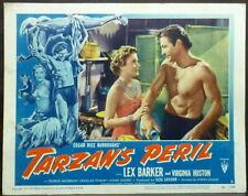Tarzan's Peril Original 1951 Lobby Card Lex Barker Virginia Huston
