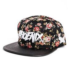 Phoenix Noir Beauté Snapback Cap Hat À Fleurs Roses Casquette Bonnet Baseball