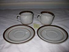 Merchandise Service Inc (MSI) Brown Monterrey - 2 Cups & 2 Saucers