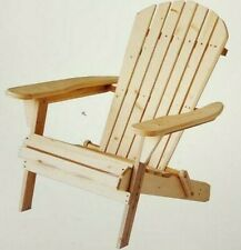 Carabelle Patio Outdoor Lawn & Garden Deck Villaret Adirondack Wood Chair Natura
