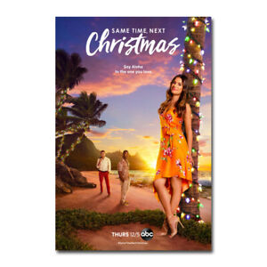 Same Time Next Christmas Movie Silk Poster Canvas Print Wall Decor 24x36 inch