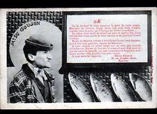 Acte de décés de M. DU GOUJON / Humoristique PECHE à la ligne / A. BERGERET 1905