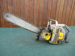 "Vintage McCULLOCH SUPER 33 Chainsaw Chain Saw with 20"" Bar  with a Log Spike"