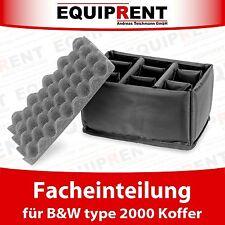 RPD Facheinteilung / Einlage / Einsatz für B&W type 2000 Koffer (EQV26)