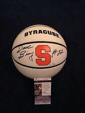Dave Bing Signed Syracuse University Logo Basketball SU Pistons JSA