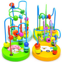 Baby Kids Educational Wooden Around Beads Toddler Infant Intelligence Toys 2018