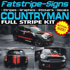 MINI COUNTRYMAN STRIPES GRAPHICS DECALS STICKERS MINI ONE COOPER S WORKS R60 1.6