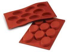 Silikomart Silicone Mould No. SF018 Ovals Medium Terracotta