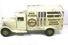 """1930 HEINZ Metalcraft Pressed Steel Toy Delivery Truck 12"""" Untouched! Original!"""