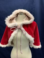 Mrs Santa Clause Cape W/Hood Caroler Winter Charles Dickens Cloak