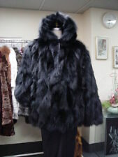 BRAND NEW BLACK FOX FUR BOMBER HOOD JACKET COAT MAN MEN