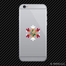Florida Snowflake Cell Phone Sticker Mobile FL snow flake snowboard skiing skii