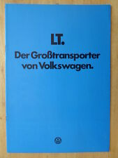 VOLKSWAGEN LT COMMERCIALS Range 1977-78 German Mkt Sales Brochure Prospekt - VW