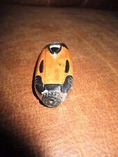 Ancien briquet-Bakèlite marron,argenté-Gaz-année 70-Gravé EB-13189