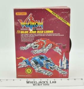 Blue & Red Lions Voltron Defender of the Universe 1985 Matchbox NEW MIB