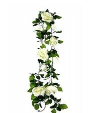 ROSE GARLAND IVORY WHITE ROSES 1500 MM LONG WEDDING ARTIFICAL FLOWERS