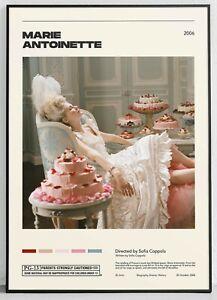 Marie Antoinette  Sofia Coppola  Vintage Retro Art Print, Minimalist Movie Poste