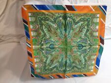 Etro Milano Mens Silk Pocket Square Made in Italy Handkerchief NIP