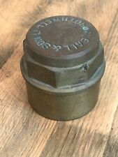 Antique Solid Brass Cartwheel Carriage Hub Cap W Ball & Son Ltd Rothwell d