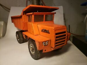 BUDDY L MACK HYDRAULIC DUMP TRUCK Orange & 1971 Plush Doll