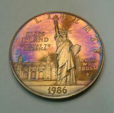 1986-S  Statue of Liberty Proof Silver Dollar Coin with beautiful toning,toned.