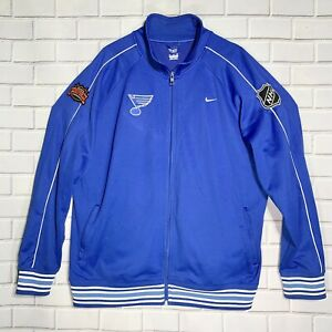 Nike NHL St. Louis Blues Clarence Campbell Conference Mens Track Jacket Blue XXL