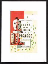Vintage 1980s Pablo Picasso Verve Suite 180 Dessins Harlequin Poster Art Print