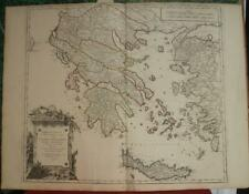 GREECE MACEDONIA ANCIENT GREECE 1752 VAUGONDY ANTIQUE COPPER ENGRAVED MAP