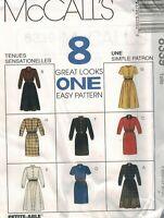 8339 UNCUT McCalls SEWING Pattern Misses Dress 2 lengths VINTAGE OOP Eight Easy