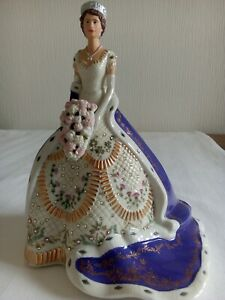 Queen Elizabeth 2nd 90th birthday Limited Edition figurine by Bradford Exchange
