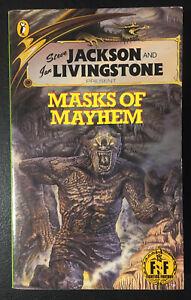 MASKS OF MAYHEM Fighting Fantasy #23 1986 1st Robin Waterfield Black Dragon NM