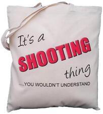 Es un tiroteo cosa-usted no entender-algodón natural bolso de hombro