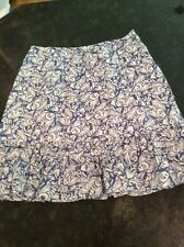Vineyard Vines Blue & White Fish Pattern Skirt, Size 8. All Cotton.