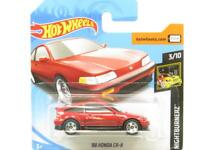 Hotwheels 88 Honda CR-X Nightburnerz 49/250 Red Short Card 1 64 Scale Sealed New
