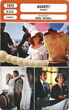 Movie Card. Fiche Cinéma. Avanti ! (USA) Billy Wilder 1972