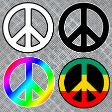 AMOUR PAS LA GUERRE LOVE PEACE SIGN NO WAR AUTOCOLLANT STICKER (LA049)