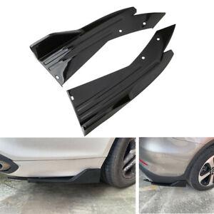 2X Car Accessories Rear Bumper Fin Canard Splitter Diffuser Valance Spoiler Lip