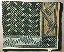 "Biederlack Aurura Green Tan Geometric Blanket Throw 47"" T X 52"" W"