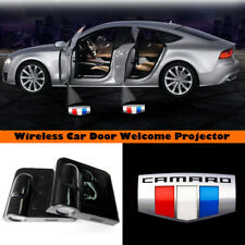 Wireless Car Door LED Welcome Laser Projector Camaro Flag Logo Shadow Light