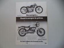 advertising Pubblicità 1982 MOTO GUZZI V50 V 50 MONZA